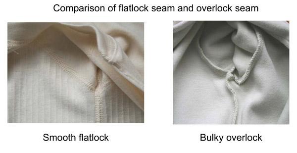 Flatlock vs overlock.